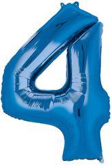 "34"" Blue #4 Mylar Balloon"