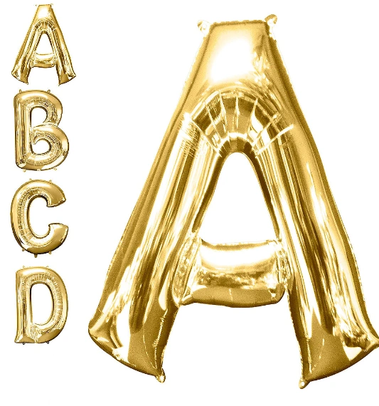 Letters A-Z Gold (DOES NOT FLOAT)