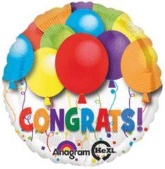 """Bold Congrats Balloon 18"""""""
