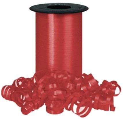 """Lava Red Curling Ribbon, 3/8""""x 250 yards"""