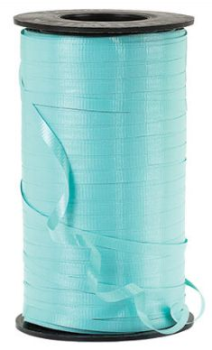 "Crimped Robins Egg Blue Curling Ribbon, 3/16""x 500 yards"