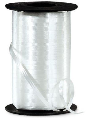 """Crimped White Curling Ribbon, 3/16""""x 500 yards"""