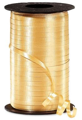 """Crimped Gold Curling Ribbon, 3/16""""x 500 yards"""
