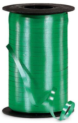 "Crimped Emerald Green Curling Ribbon, 3/16""x 500 yards"
