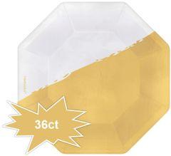 """Cocktail Party Octagonal Appetizer Foil Plates, 5 3/4"""" - 36ct"""