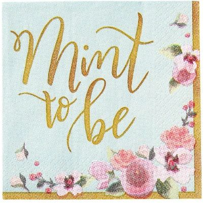 Mint To Be Beverage Napkins, 16ct