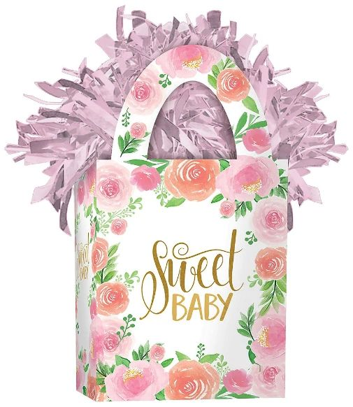 Floral Baby Mini Tote Balloon Weight