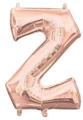 """13"""" Rose Gold Letter Z"""