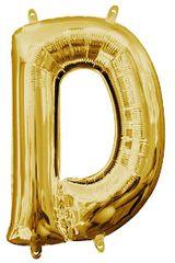 """13"""" Gold Letter D"""