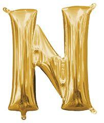 """13"""" Gold Letter N"""