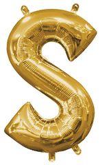 "13"" Gold Letter S"