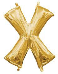 "13"" Gold Letter X"