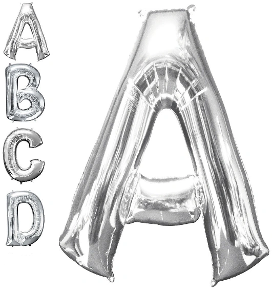 Letters A - Z Silver (Does Not Float)