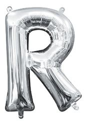 """13"""" Silver Letter R"""
