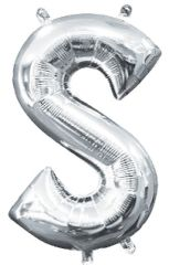 """13"""" Silver Letter S"""