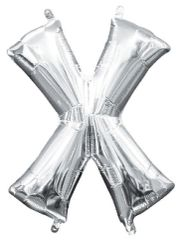 """13"""" Silver Letter X"""