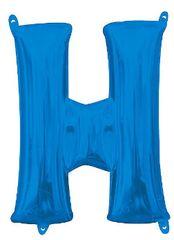 """13"""" Blue Letter H"""