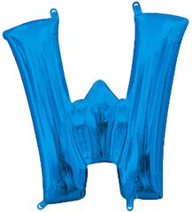"13"" Blue Letter W"