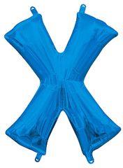 """13"""" Blue Letter X"""