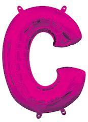 """13"""" Pink Letter C"""