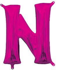 """13"""" Pink Letter N"""