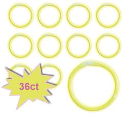"8"" Glow Stick Tube - Yellow, 36ct"