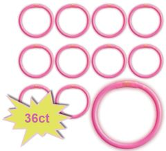 "8"" Glow Stick Tube - Pink, 36ct"