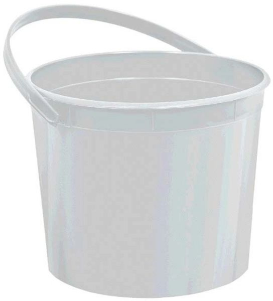 Silver Plastic Bucket