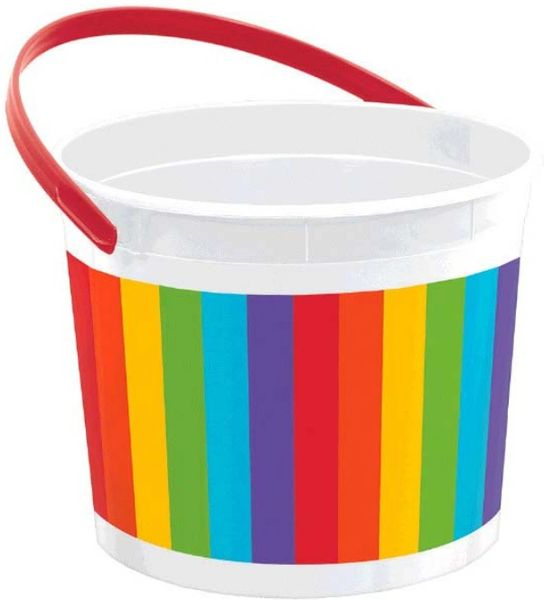 Rainbow Plastic Bucket