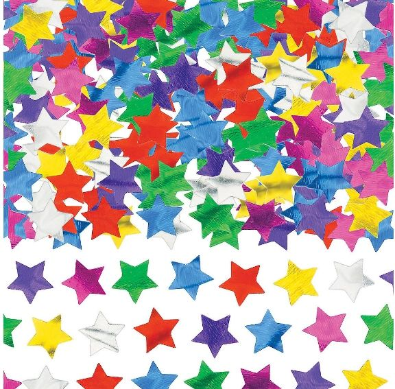 Multicolor Mini Confetti Stars