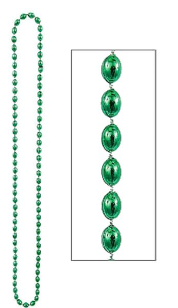 Let's Party Bead Necklace - Green, 30""