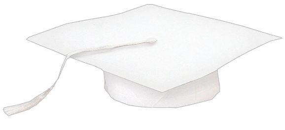 White Mini Grad Cap