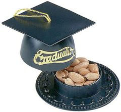Black Mortarboard Nut Cup