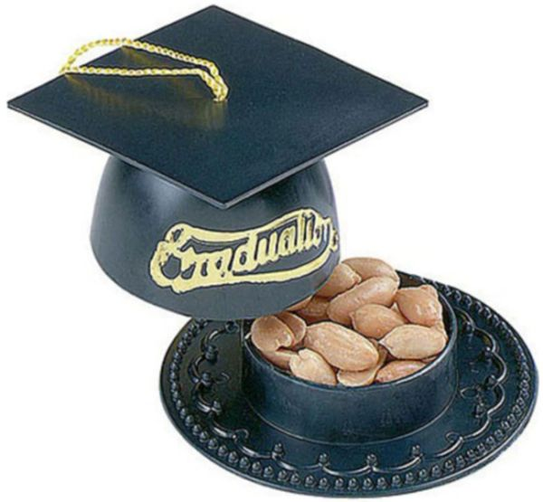 Mortarboard Nut Cup - Black