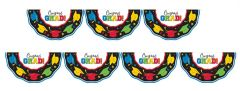 Multi Color Grad Plastic Bunting, 11ft