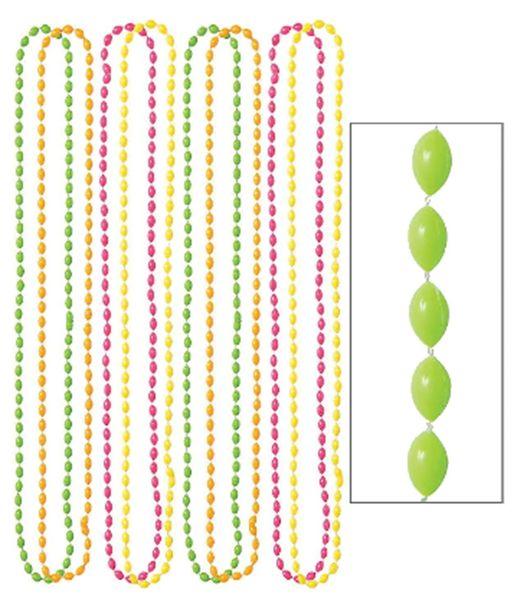 "Neon Bead Necklaces, 30"" - 8ct"