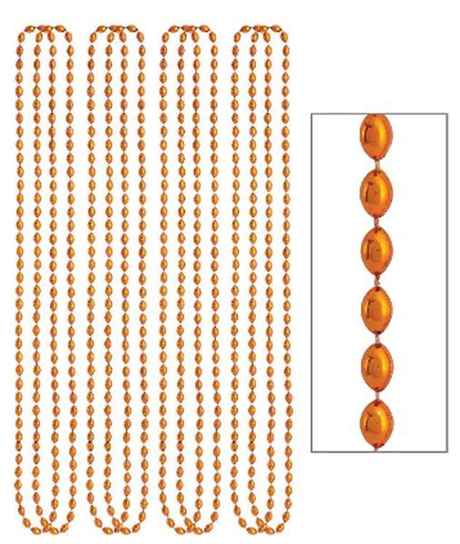 """Orange Metallic Bead Necklaces, 30"""" - 8ct"""