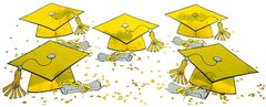 Yellow Graduation Table Decorating Kit, 11pcs