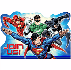 Justice League™ Postcard Invitations, 8ct
