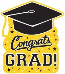 Grad Cutout - Yellow