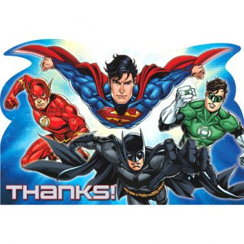 Justice League™ Postcard Thank You Cards, 8ct