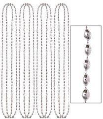 Silver Metallic Bead Necklaces, 8ct