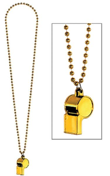 Yellow Whistle On Chain Necklace