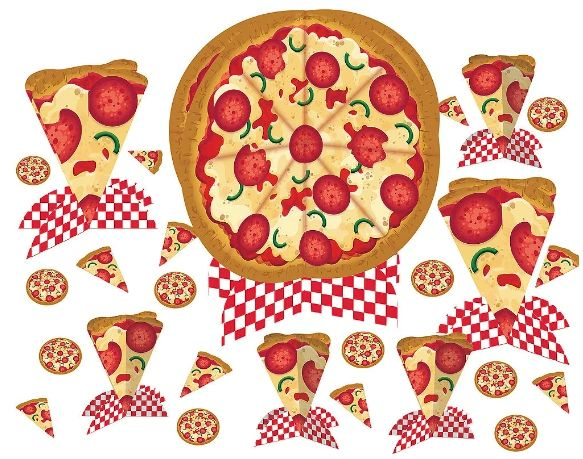 Pizza Party Table Decorating Kit
