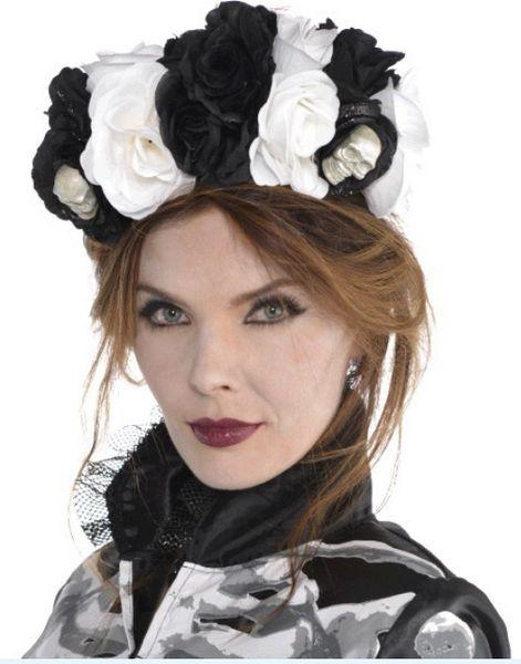 Black & Bone Floral Headpiece