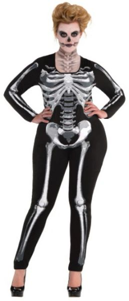 Black And Bone Catsuit - Adult Plus
