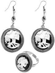 Black & Bone Jewelry Set, 3pc