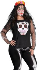 Day Of The Dead Shirt - S/M & Adult Plus