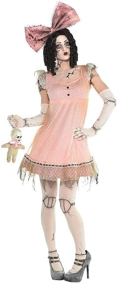 Creepy Doll Dress - Adult Standard
