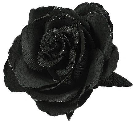 Black Clip On Flower